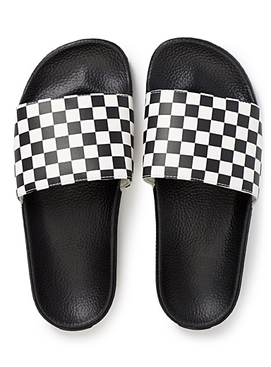 La sandale slide Checkerboard