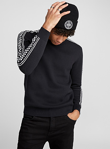 Le pull accent damier