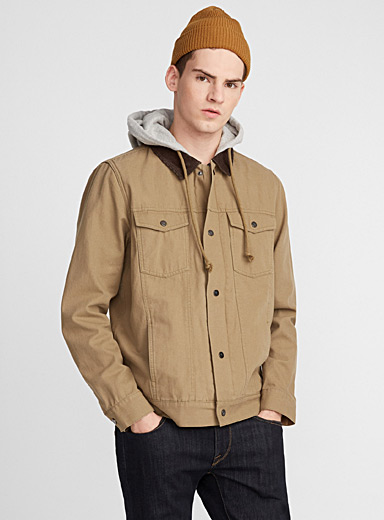 Hooded trucker overshirt