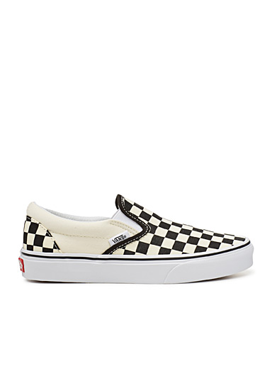 Vans Patterned Black Checkerboard slip-ons  Women for women