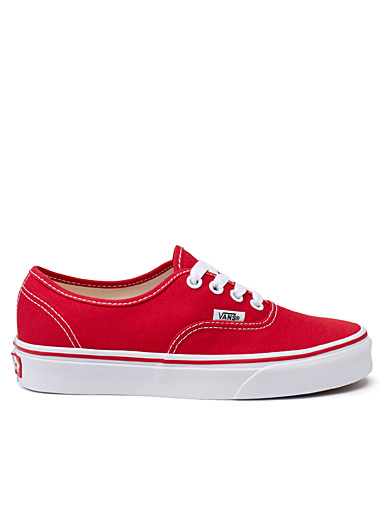 Authentic red sneakers <br>Women