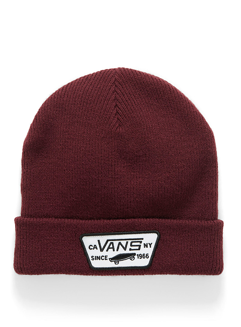 Vans Grey Milford cuffed tuque for men