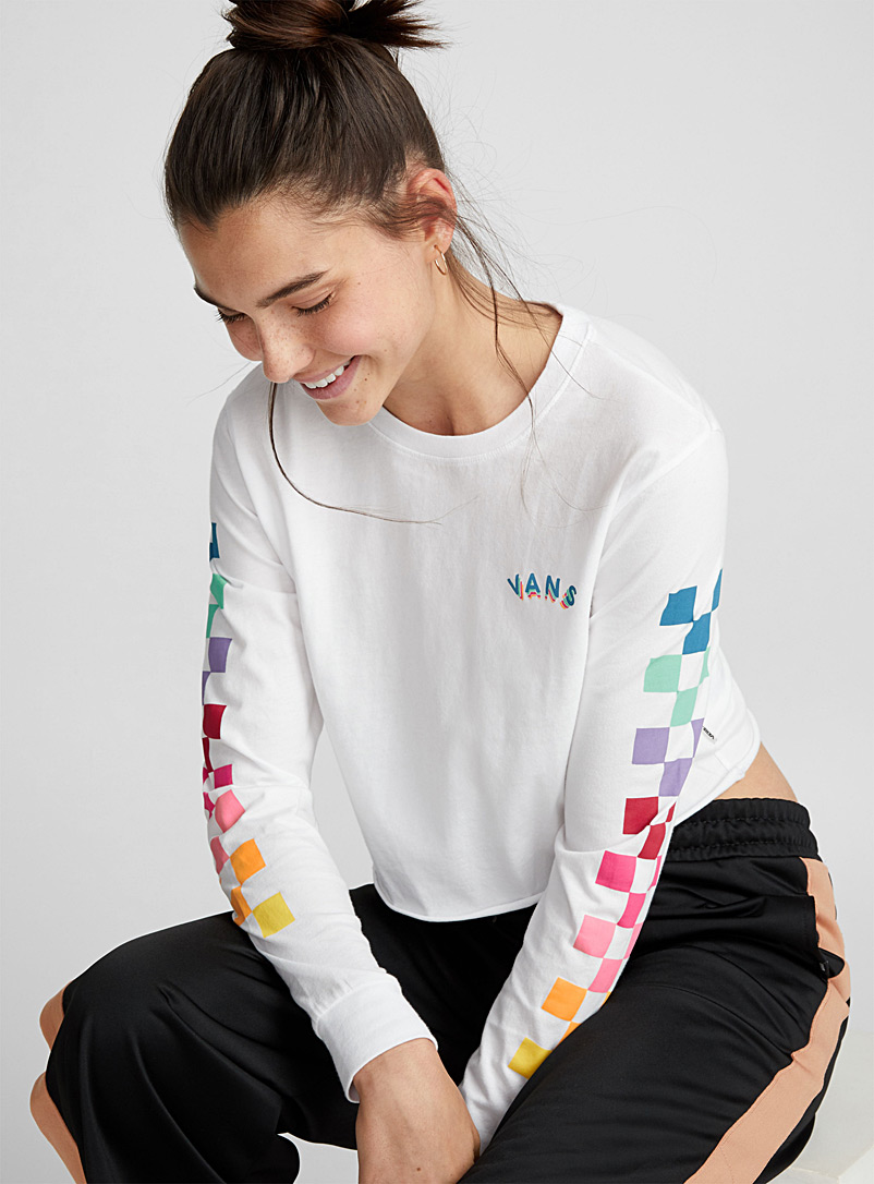 cropped-colourful-check-tee