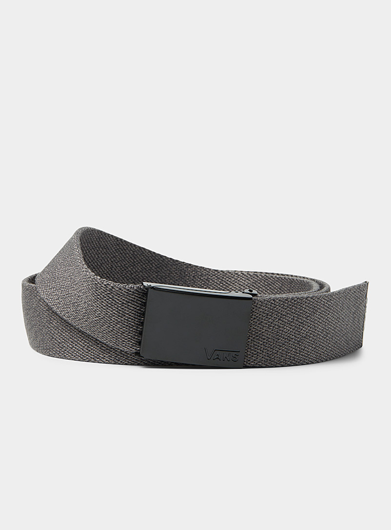 Vans Charcoal Depster II web belt for men