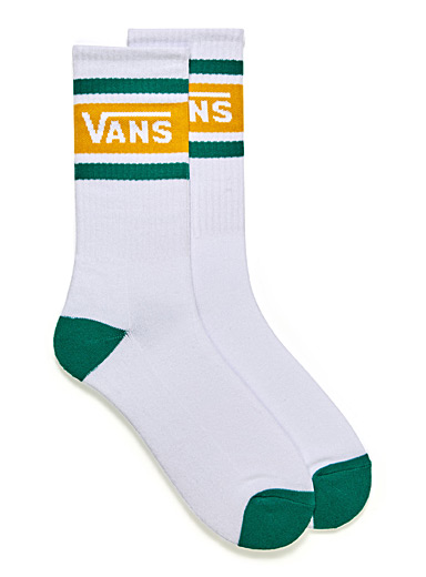 Block logo stripe socks