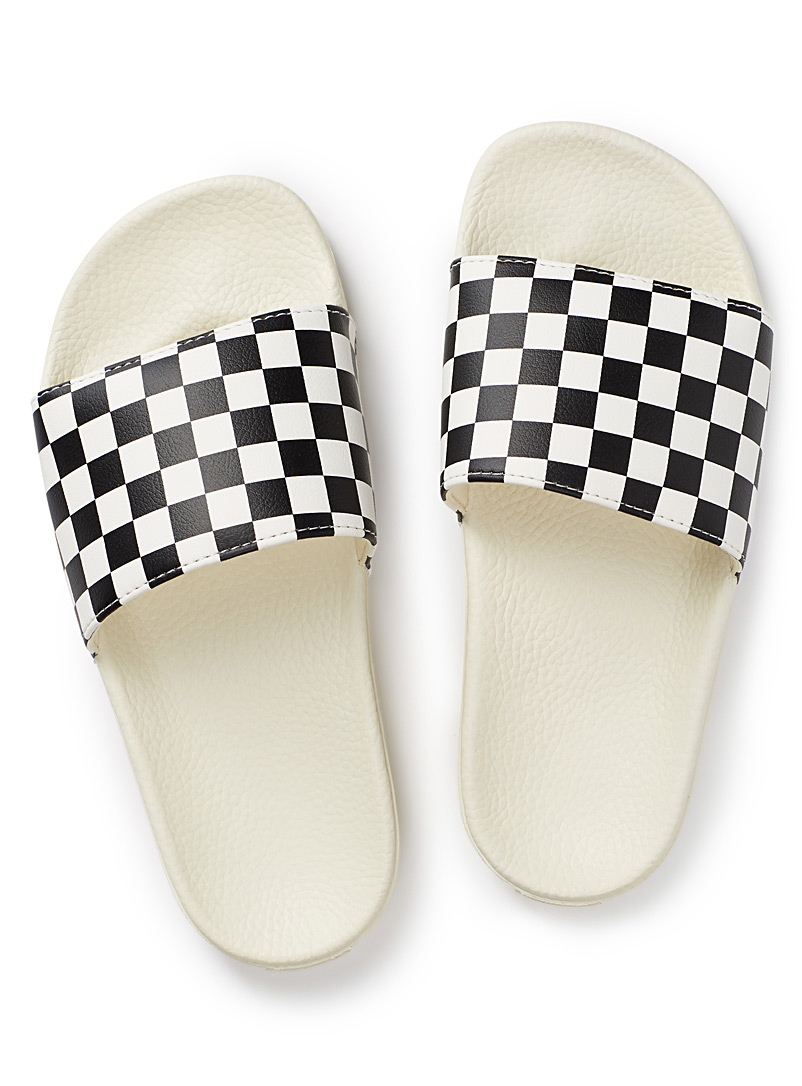 Vans Black and White Iconic slides  Women for women