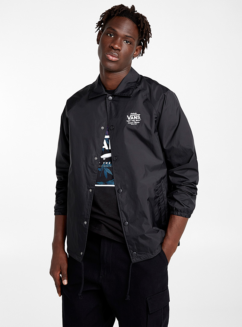 Vans Black Black Torrey coach jacket for men