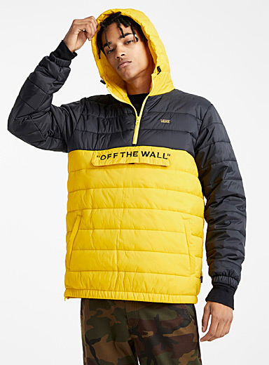 Graphic block puffer jacket