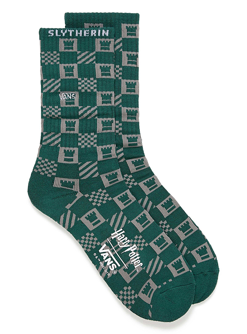 Slytherin ribbed socks - Athletic socks - Patterned Green