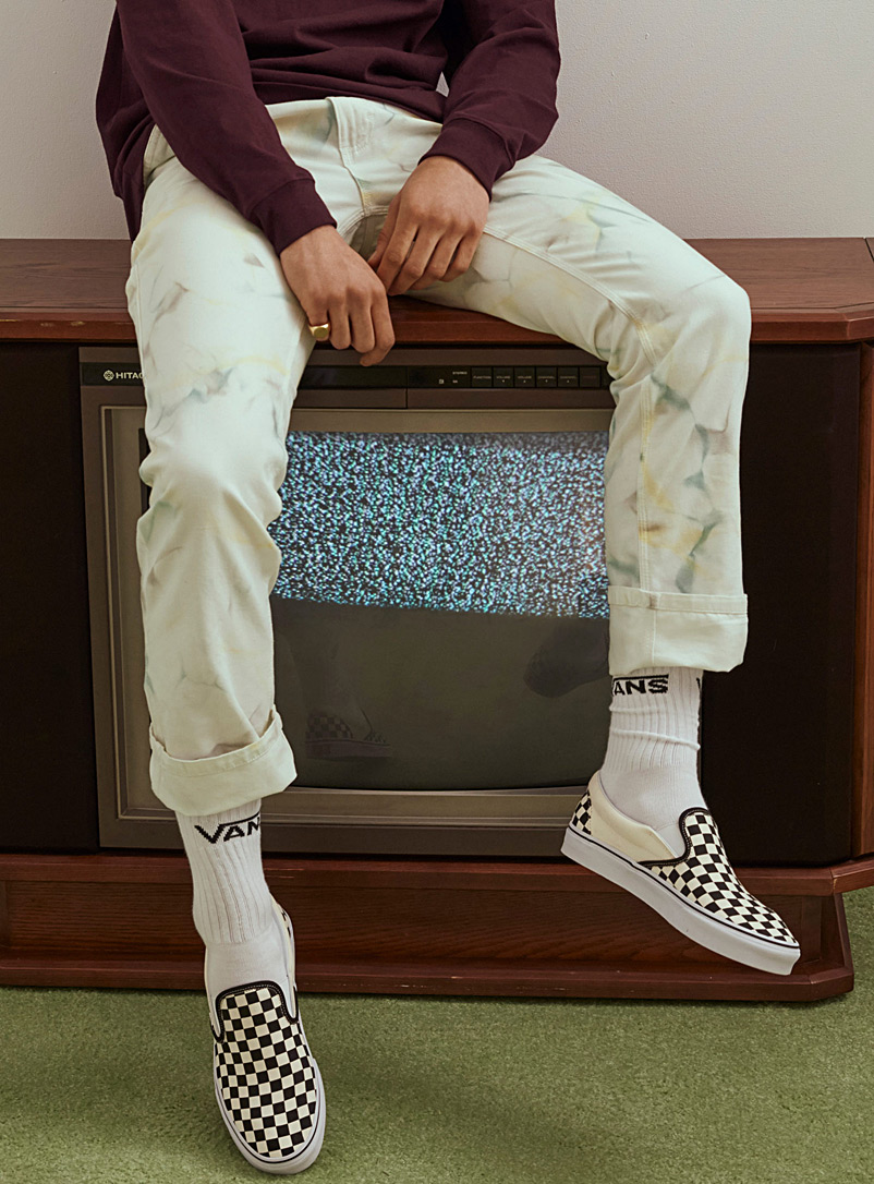 Tie-dye work pant  Straight fit - Straight fit - Patterned White