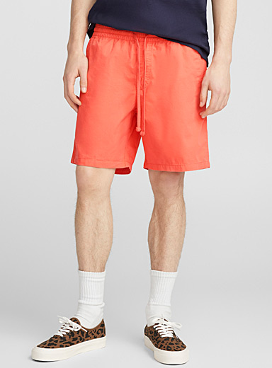 Orange pull-on short