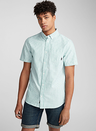 Vertical striped Oxford shirt