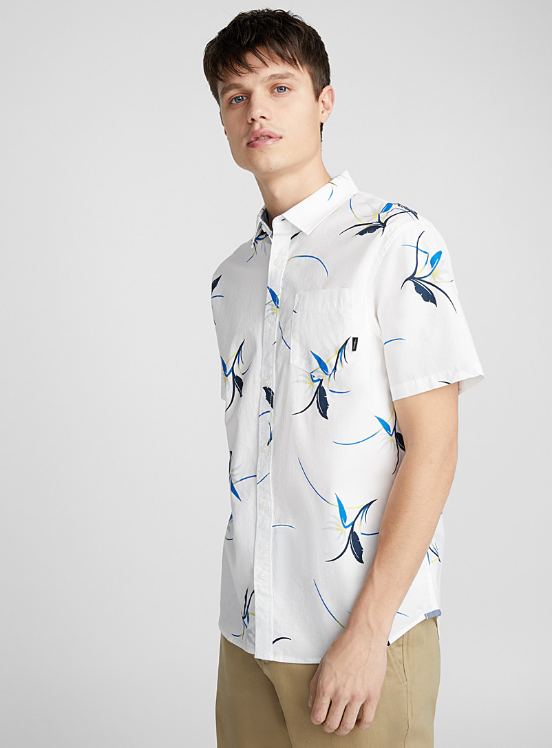 Floral shirt - Short sleeves - Patterned White