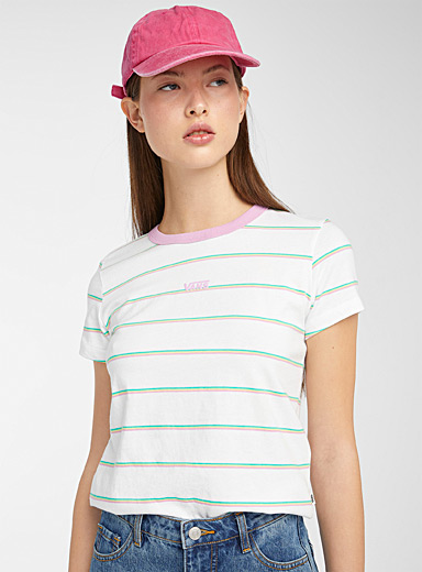 Triple candy stripe tee