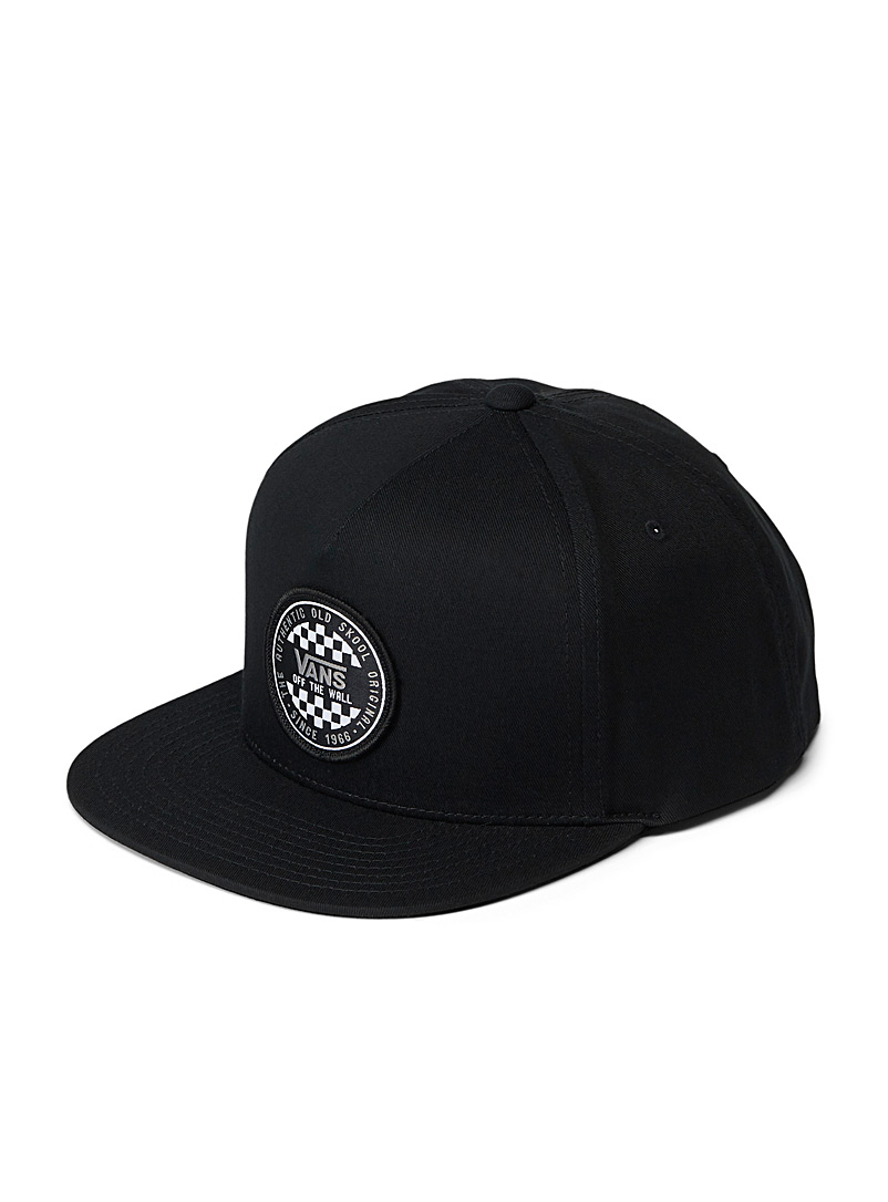 Vans Black Check logo trucker cap for men