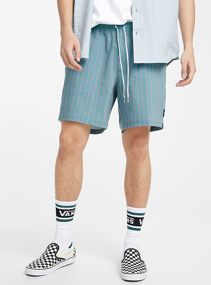 Vans Teal Striped volleyball short for men