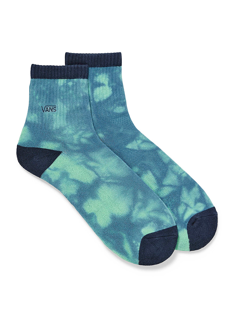 Vans Patterned Green Aquatic tie-dye socks for men