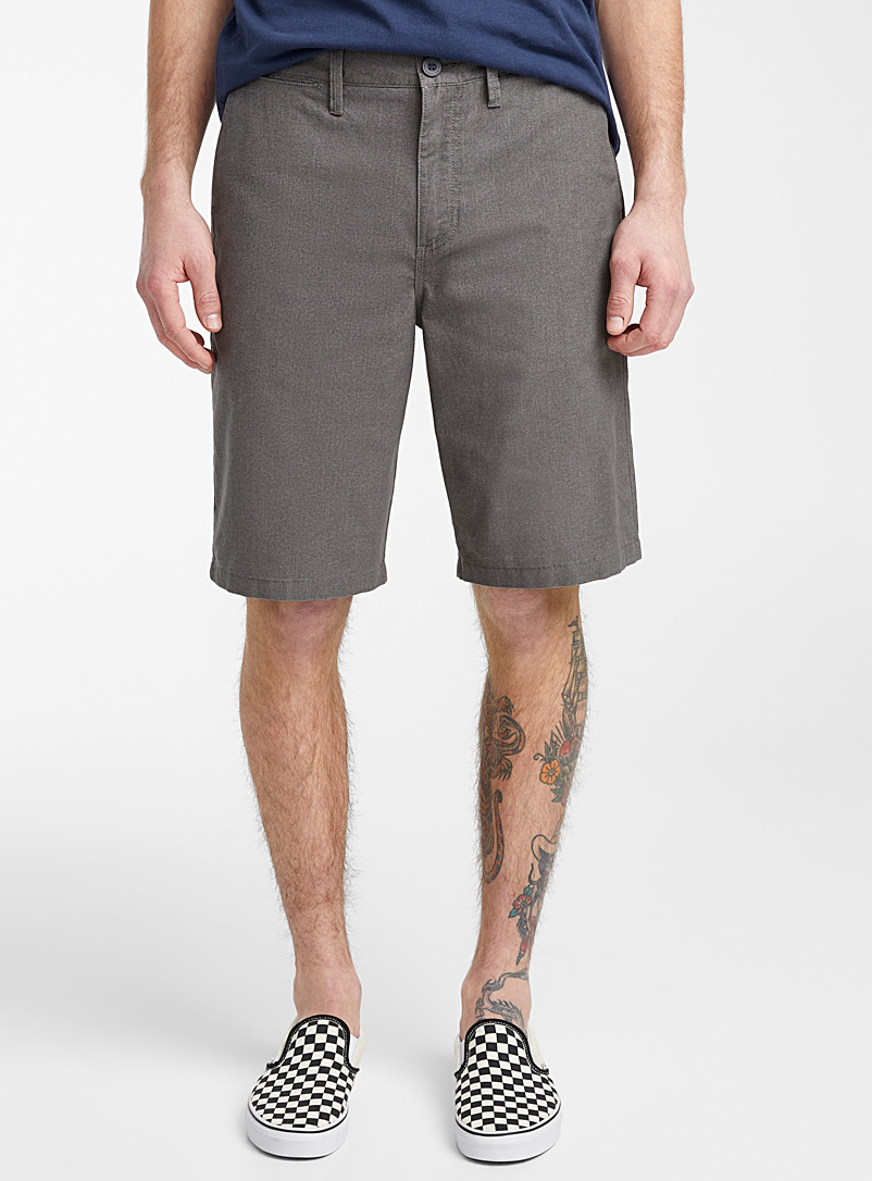 Vans Grey Dewitt chambray short for men