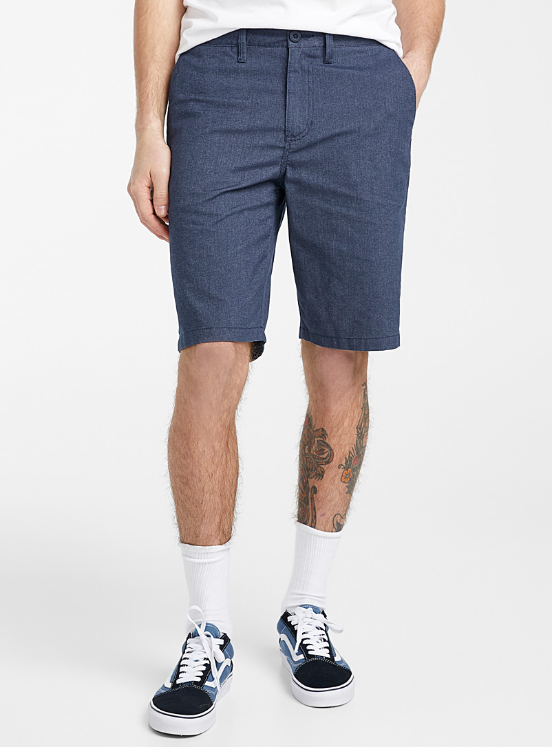 Vans Blue Dewitt chambray short for men