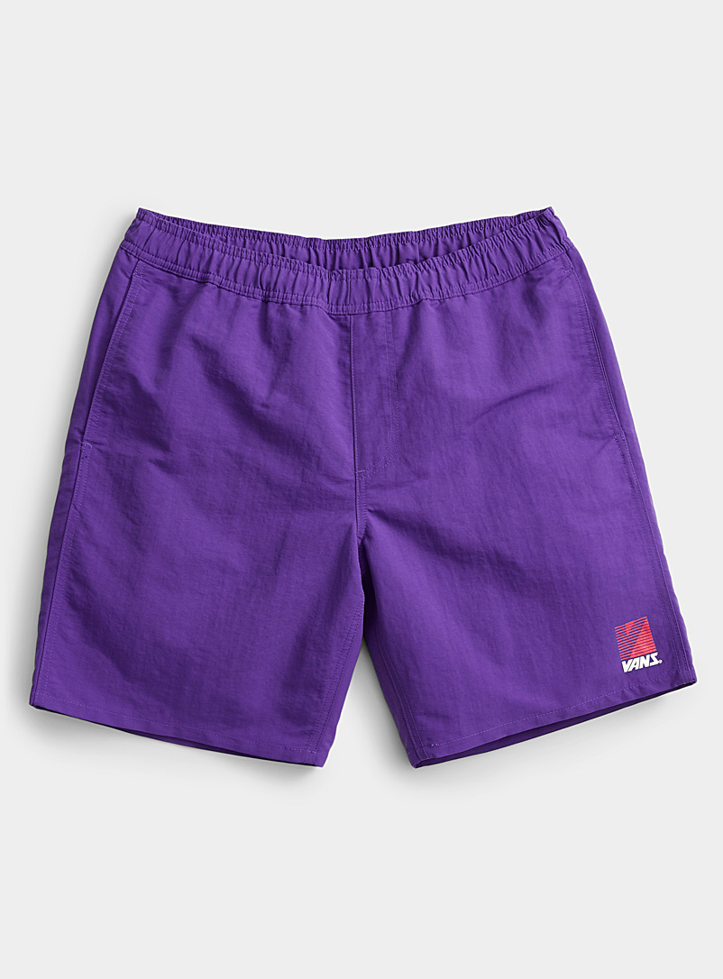 Vans Purple Sporty pull-on short for men