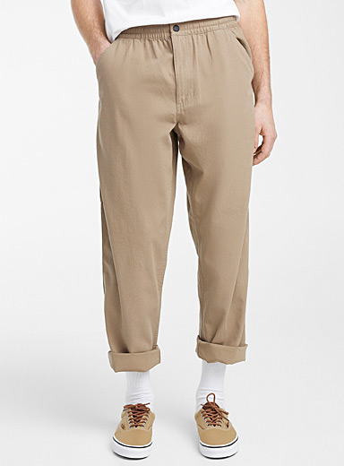 Elastic waist work pant  Straight fit