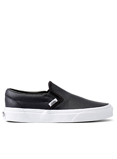 Perforated leather slip-ons  Women