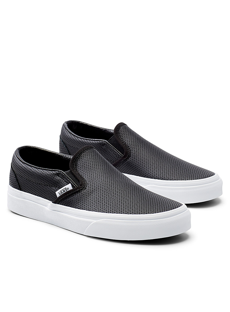 Vans Black Perforated leather slip-ons  Women for women