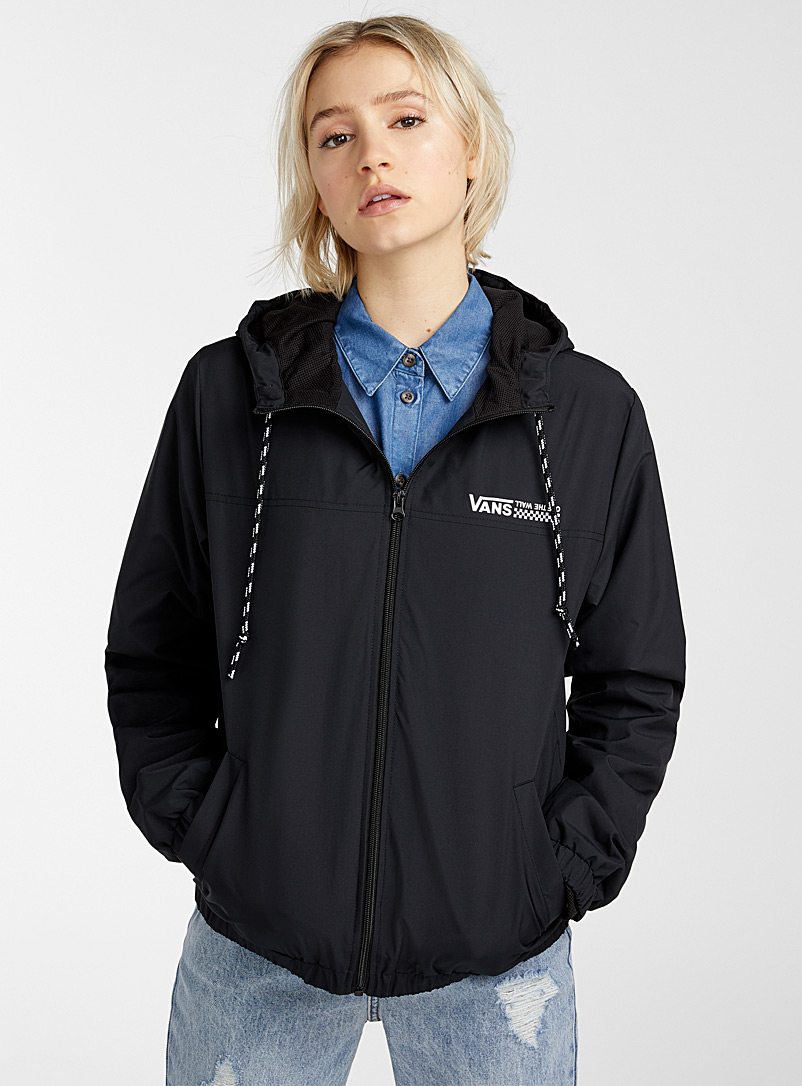 Vans Black Kastle windbreaker for women