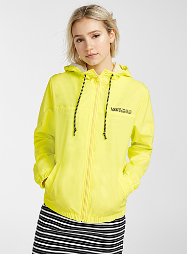 Vans Yellow Kastle windbreaker for women