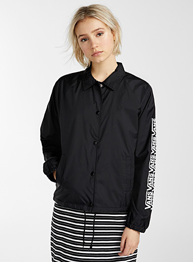 Vans Black Thanks Coach jacket for women