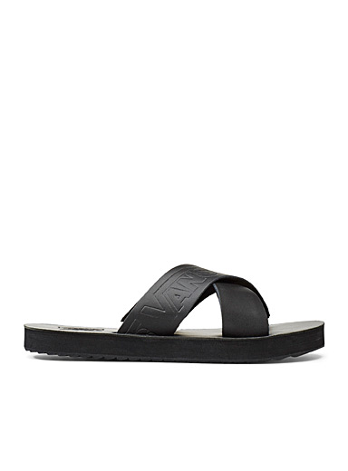 Wide cross-strap sandals