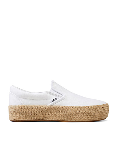 Vans White Platform slip-on espadrilles  Women for women