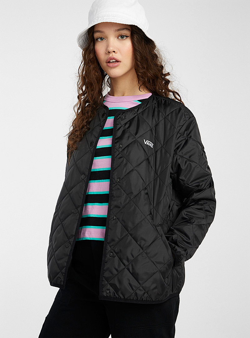 Vans Black Quilted bomber jacket for women