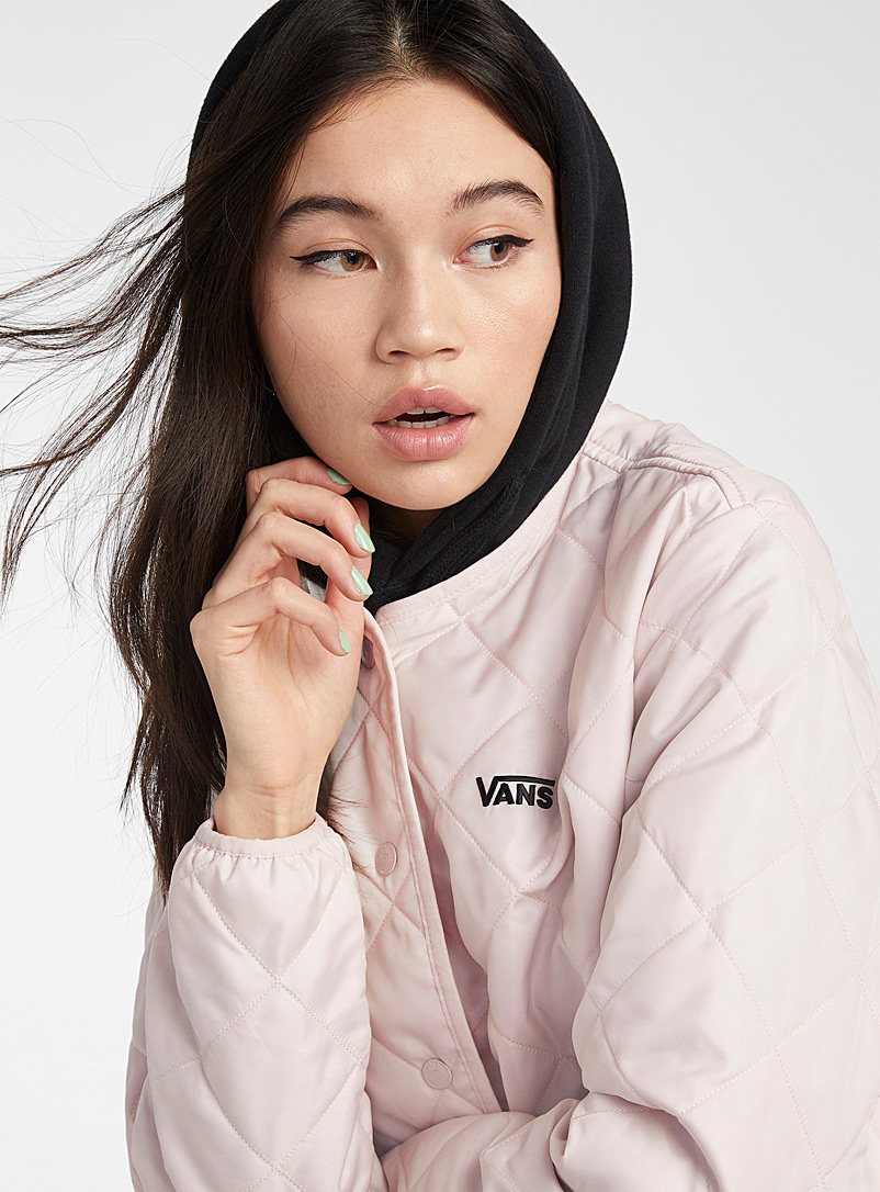 Vans Mauve Quilted bomber jacket for women