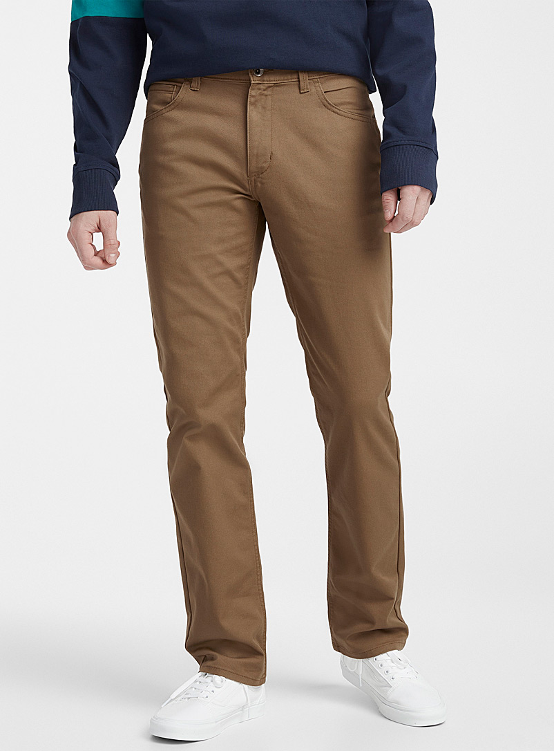 Vans Light Brown Ave Covina 5-pocket pant  Straight, slim fit for men