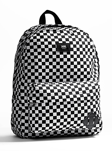 Old Skool black checkerboard backpack