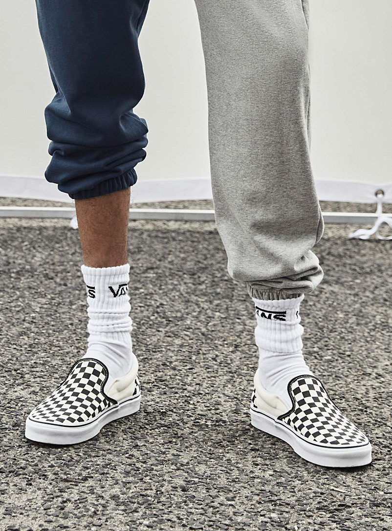 Checkerboard slip-ons  Men - Sneakers - Black and White