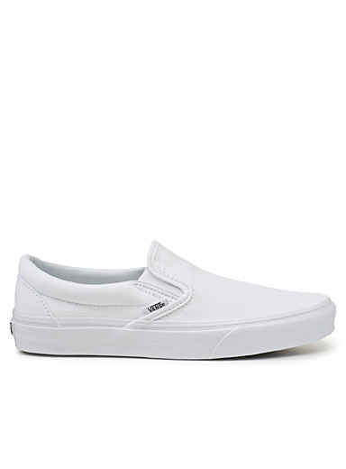 Classic white canvas slip-ons