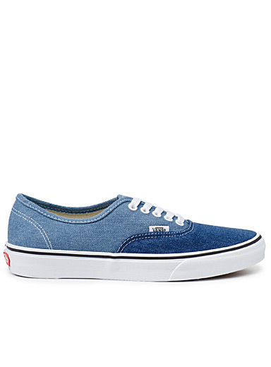 Le sneaker Authentic denim bicolore <br>Homme