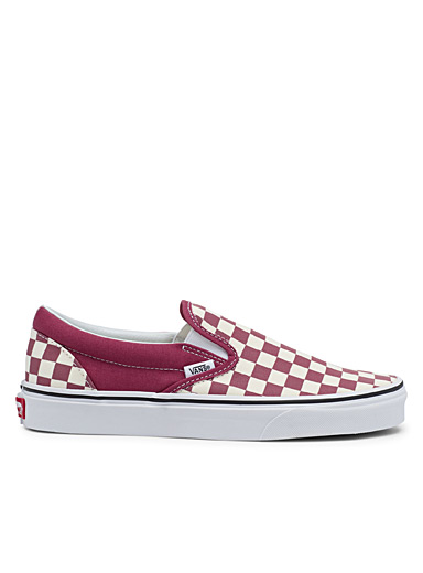 Le slip-on Checkerboard cerise <br>Homme