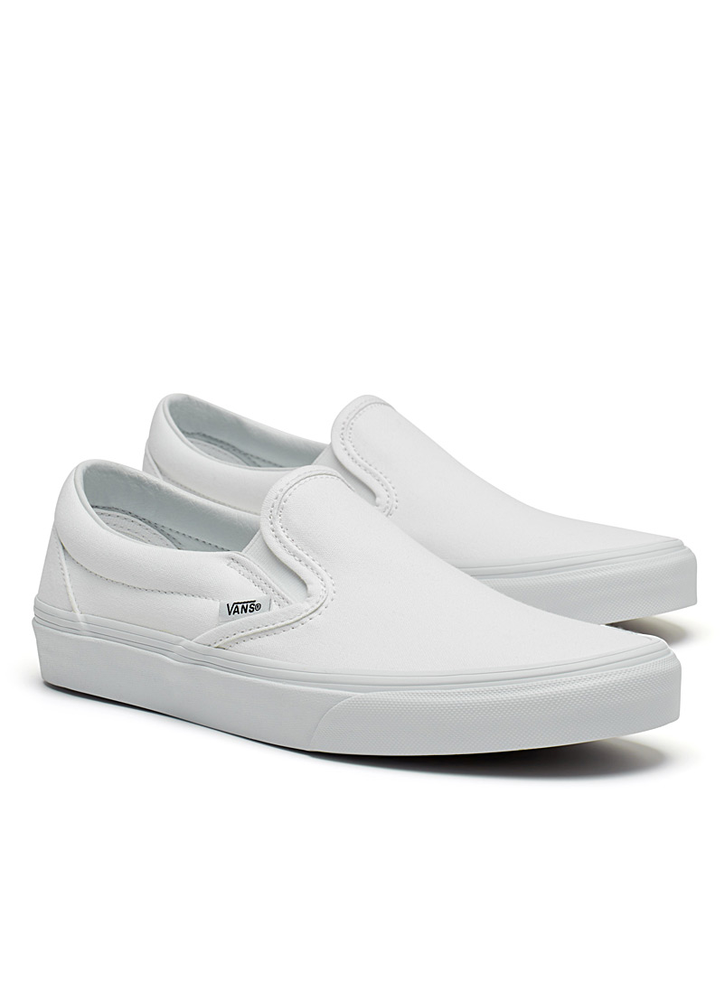 Monochrome classic slip-ons  Men - Sneakers - White