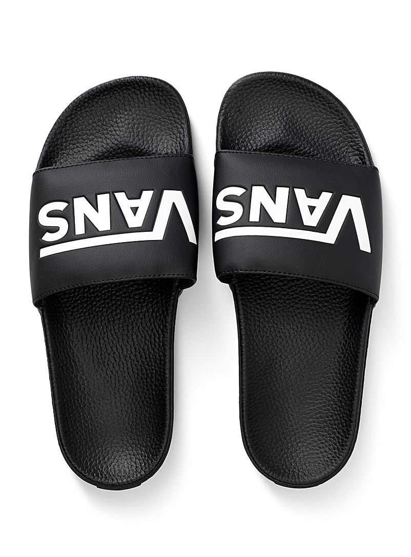 Vans Black Slide-On sandals for men