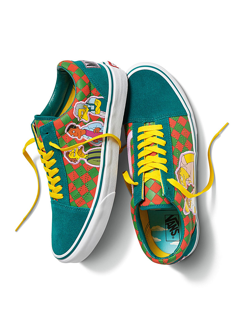 Vans Patterned Green Moe's Old Skool sneakers for men