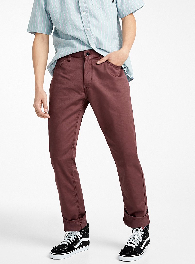 V56 Covina II chinos - Straight fit - Ruby Red