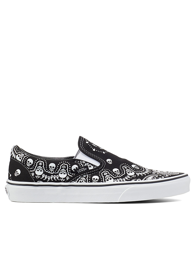Vans Black Muerte bandana Classic slip-ons Men for men