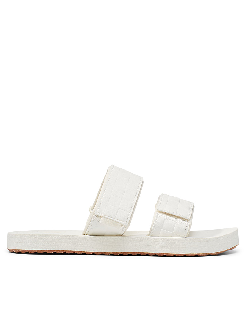 Vans Ivory White Cayucas utility sandals Women for women