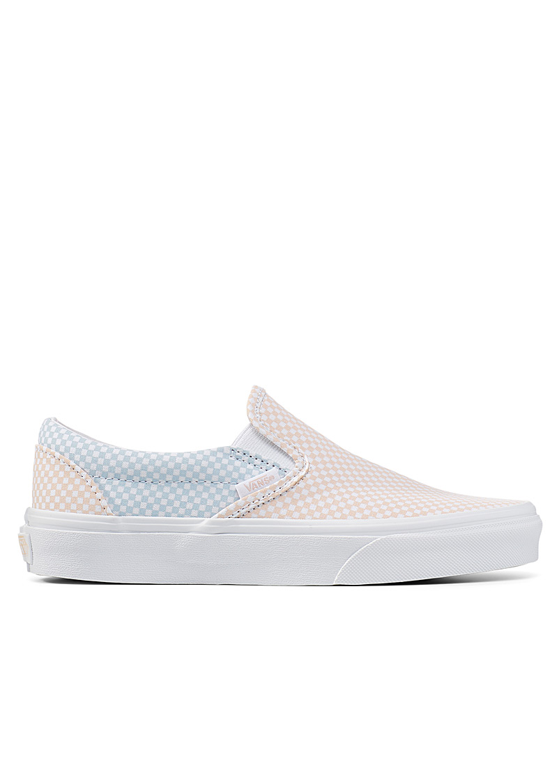 Vans Patterned Blue Pastel checkerboard slip-ons Women for women