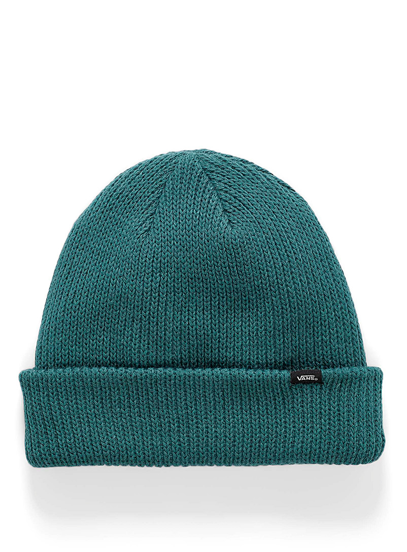 Vans Green Ribbed cuff logo tuque for women