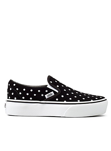 Embroidered dot classic platform slip-ons  Women
