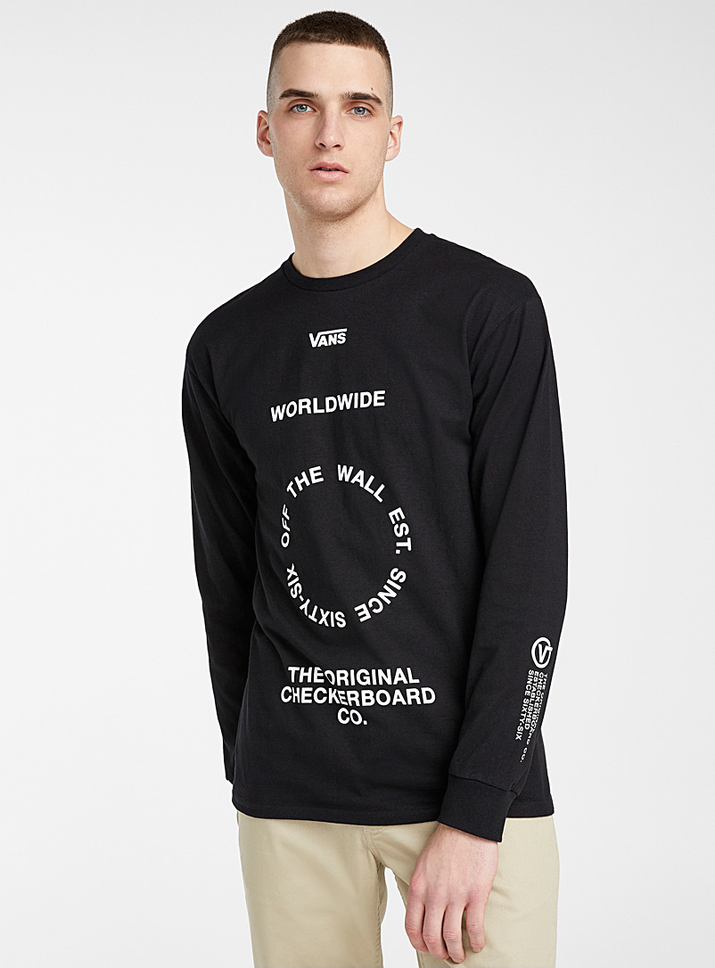 Vans Black Circular typographic T-shirt for men